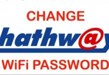 Hathway WIFI Password
